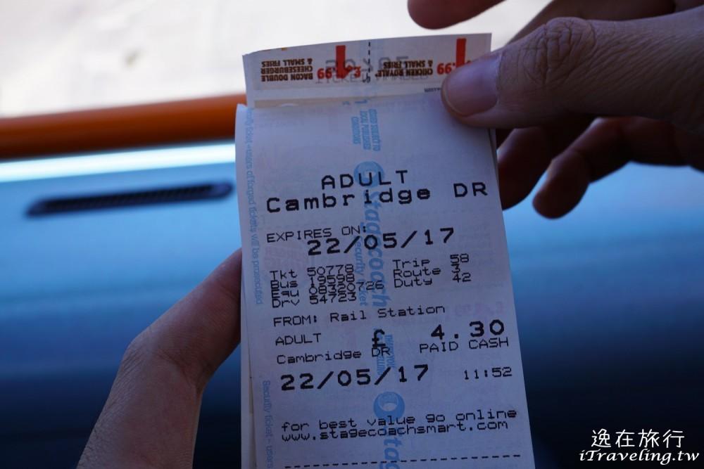 劍橋車站, Cambridge, 公車票, Bus Ticket