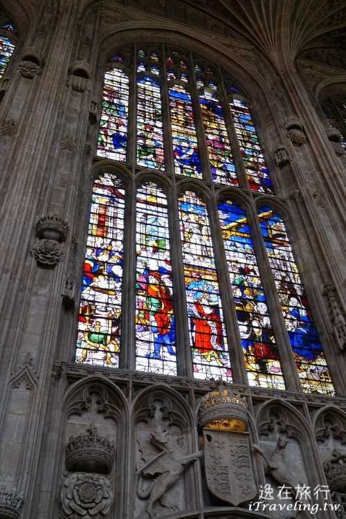 劍橋, Cambridge, 國王學院, King's College, 禮拜堂, 彩繪玻璃
