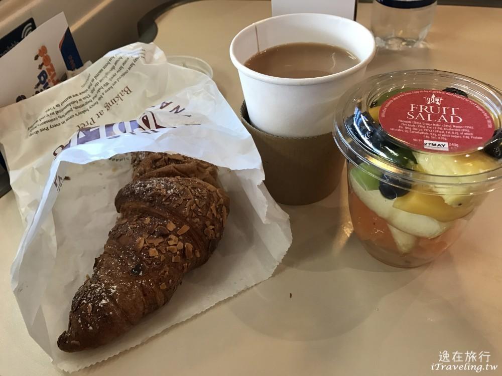 早餐, 可頌麵包, 咖啡, 水果