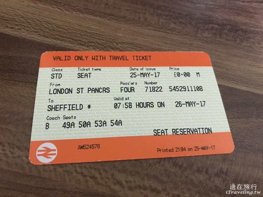 英國國鐵預約, 車票